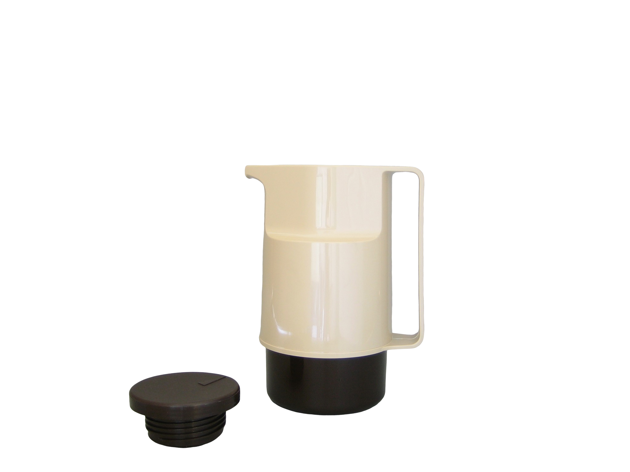 206-1030 - Vacuum carafe ABS beige/brown 0.60 L - Isobel