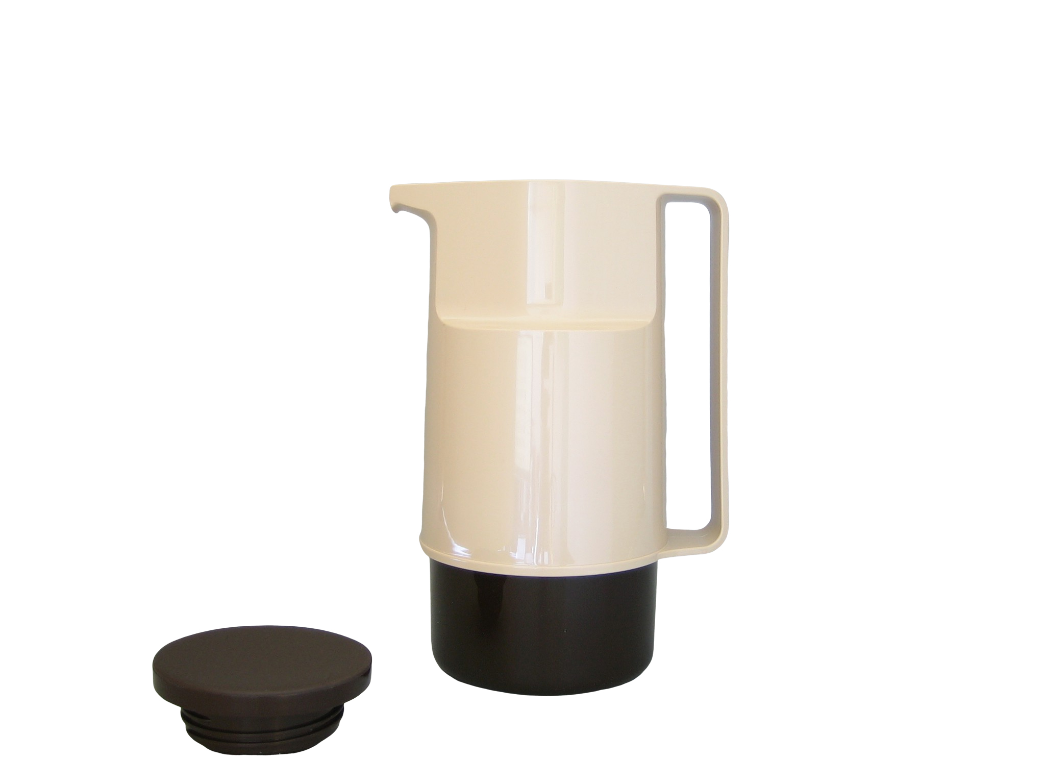 210-1030 - Pichet isotherme ABS beige/brun 1.0 L - Isobel