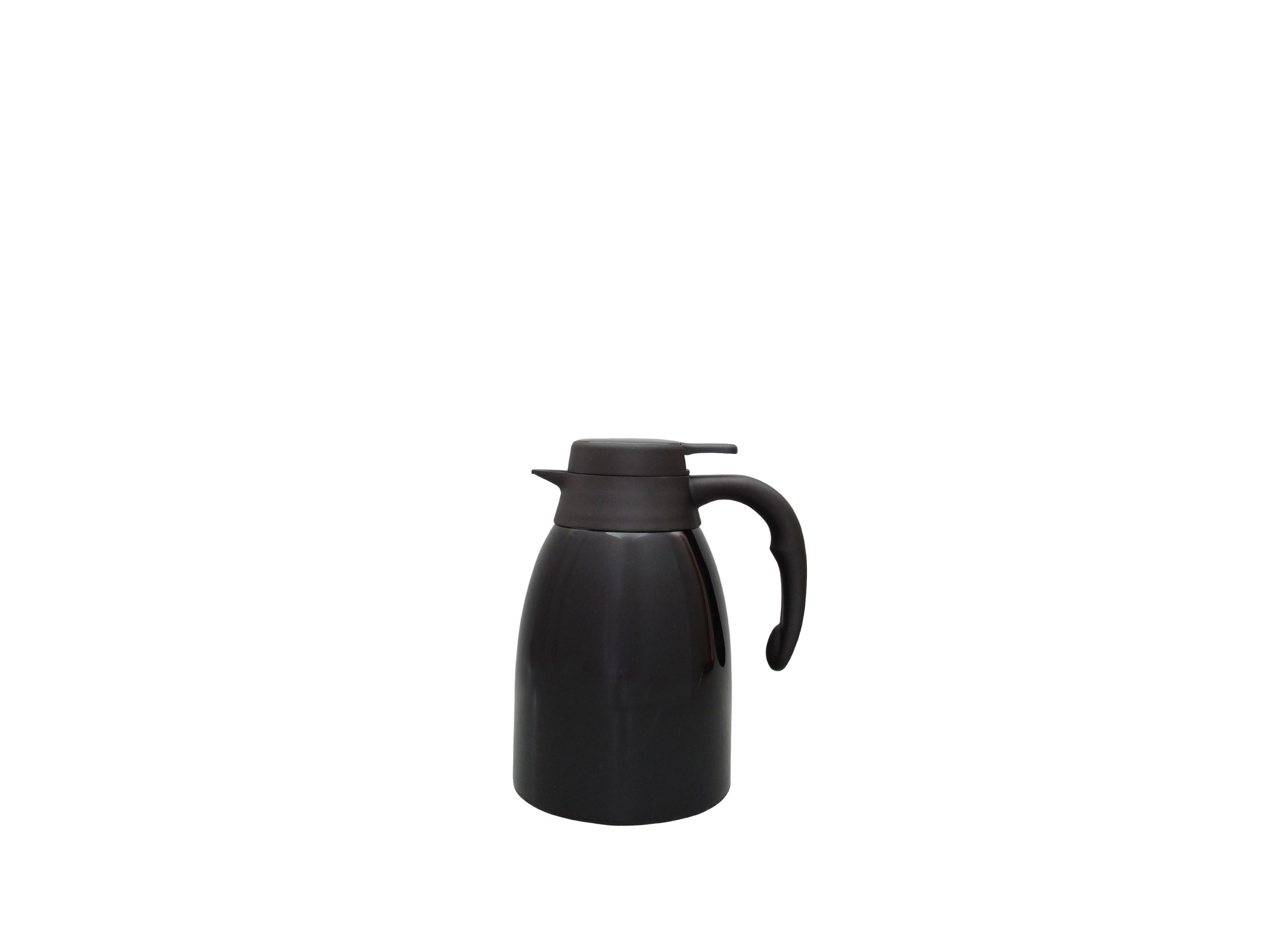 FUJI15-002 - Pichet isotherme incassable inox laqué noir 1.5 L - Isobel