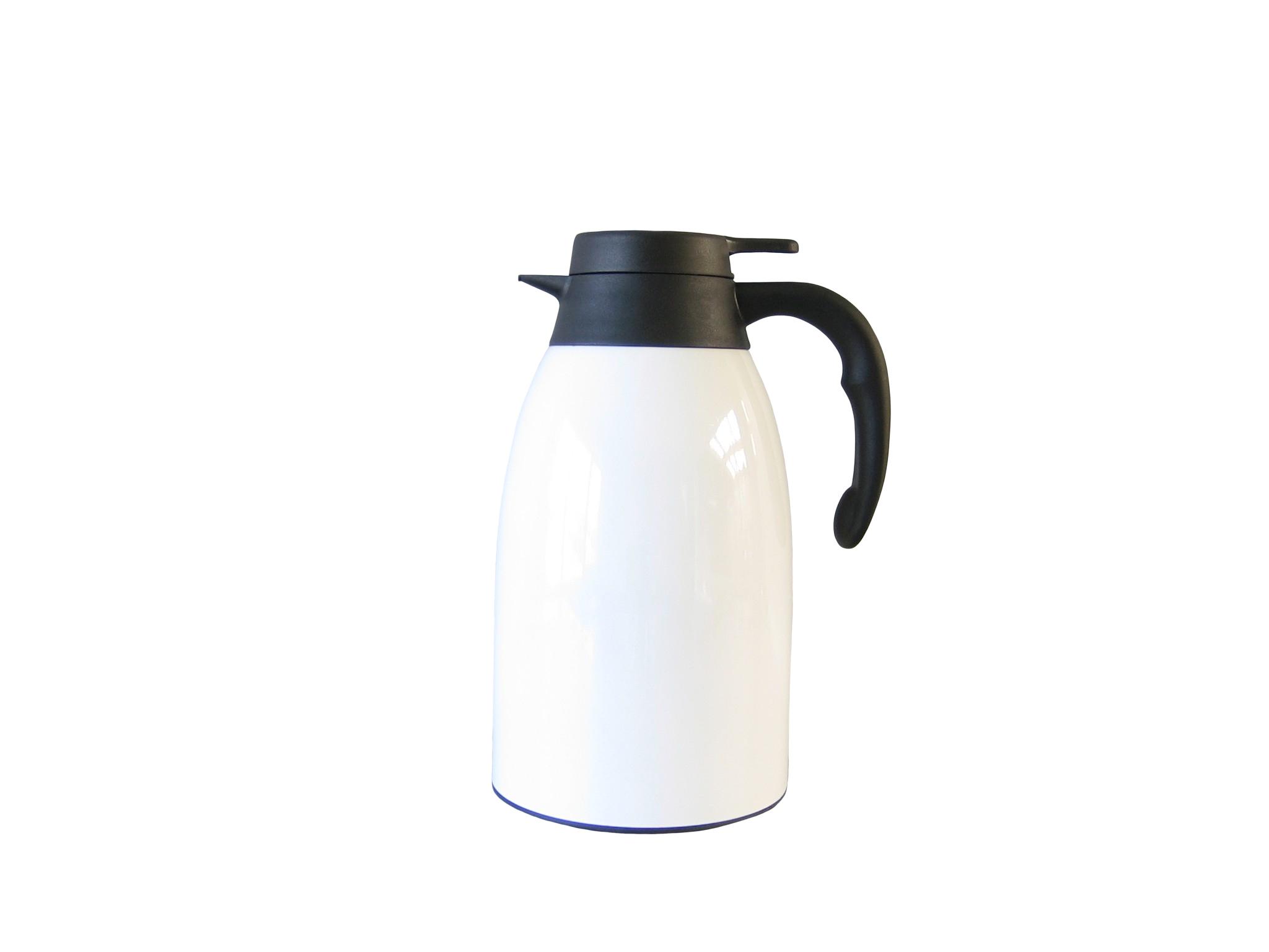FUJI20-001 - Pichet isotherme incassable inox laqué blanc 2.0 L - Isobel
