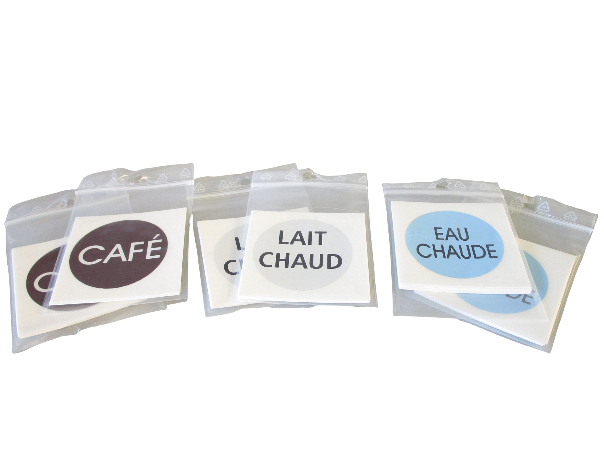 "LABEL-CAFE - Sachet de 10 étiquettes autocol. ""CAFE"" - Isobel"
