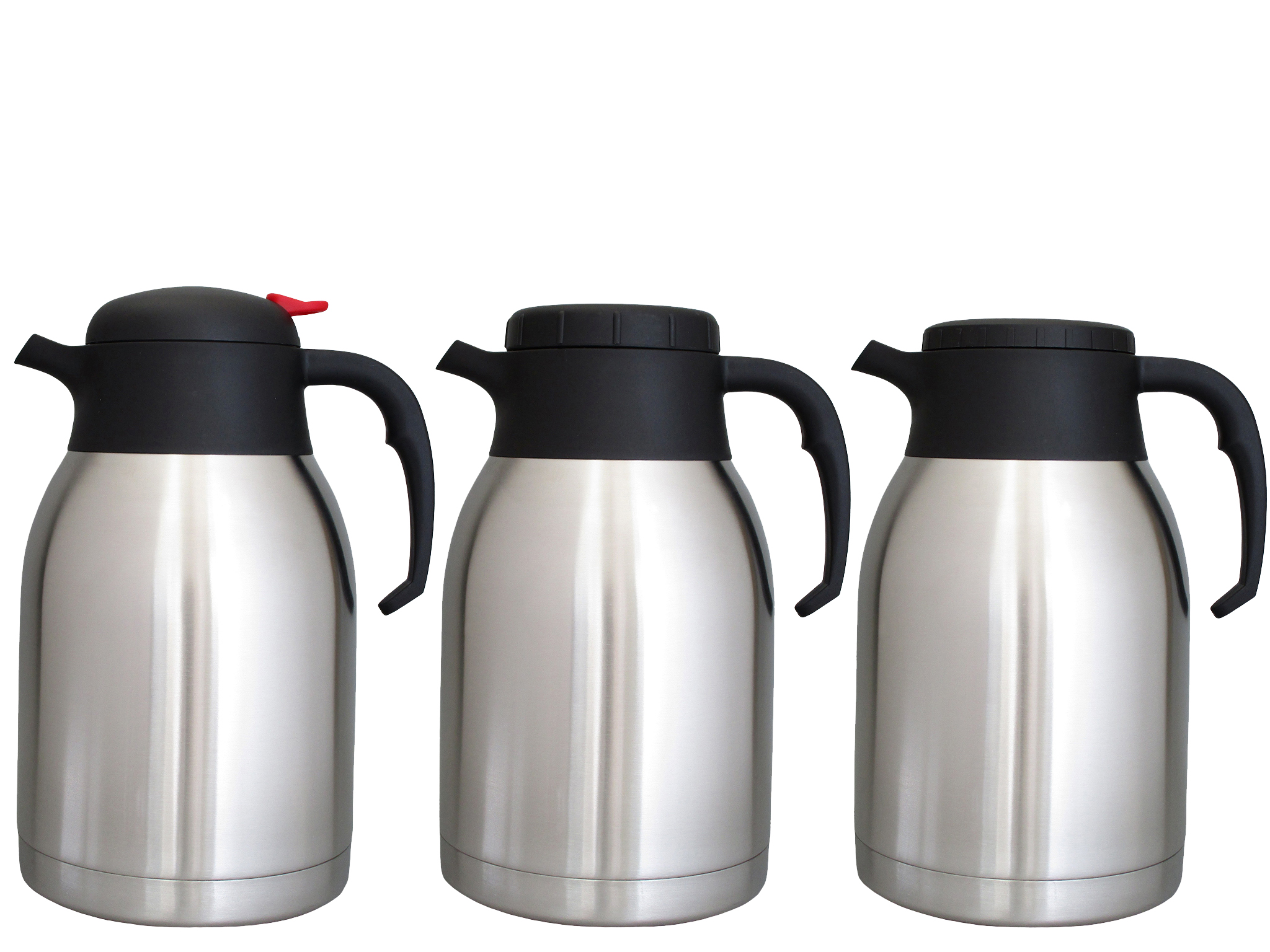 V2099-S01 - Vacuum carafe SS unbreakable 2.0 L (pushbutton) - Isobel Silver Line