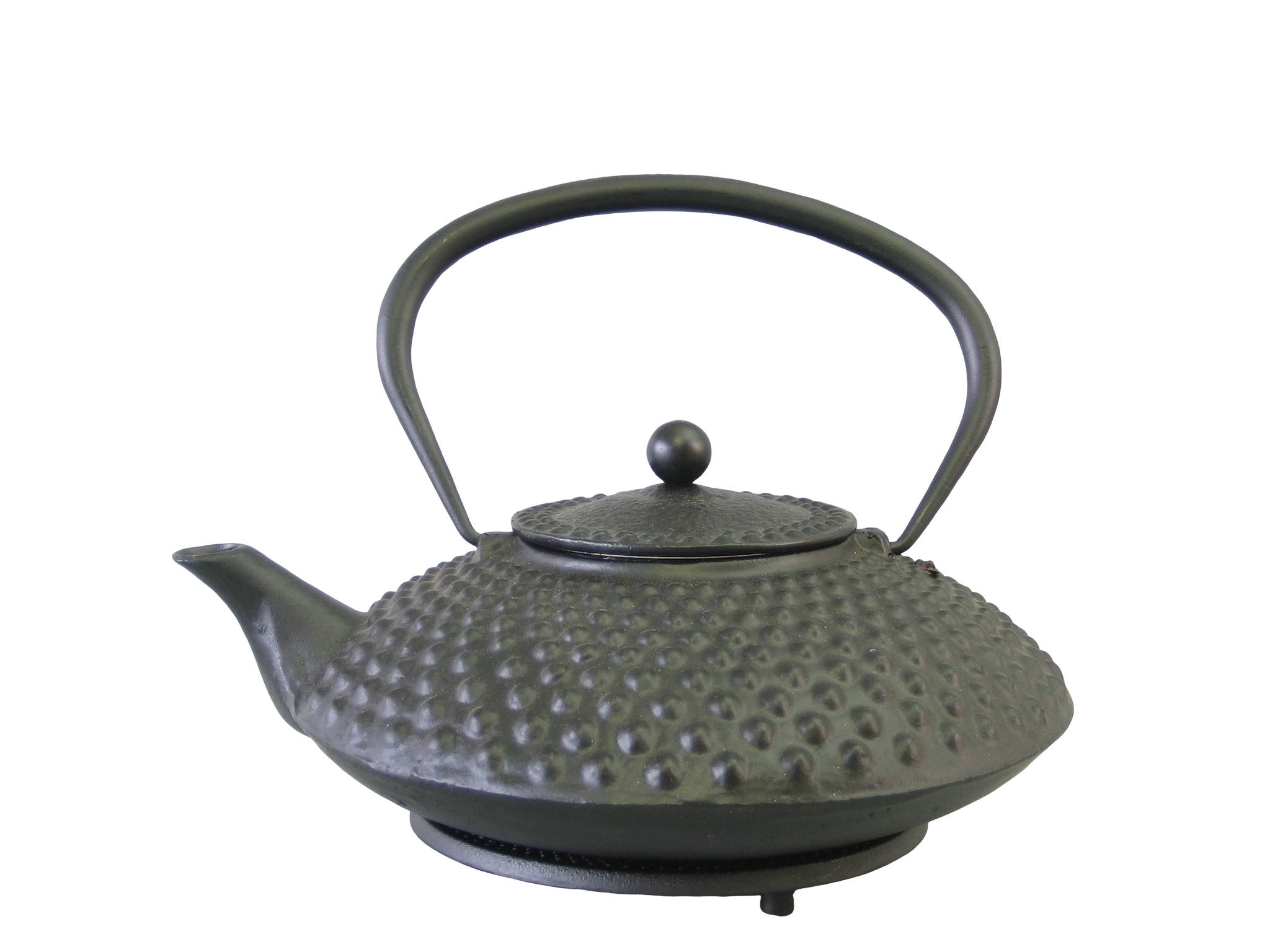 HIRA125 - Cast iron teapot enameled interior 1.25 L - Green Leaf