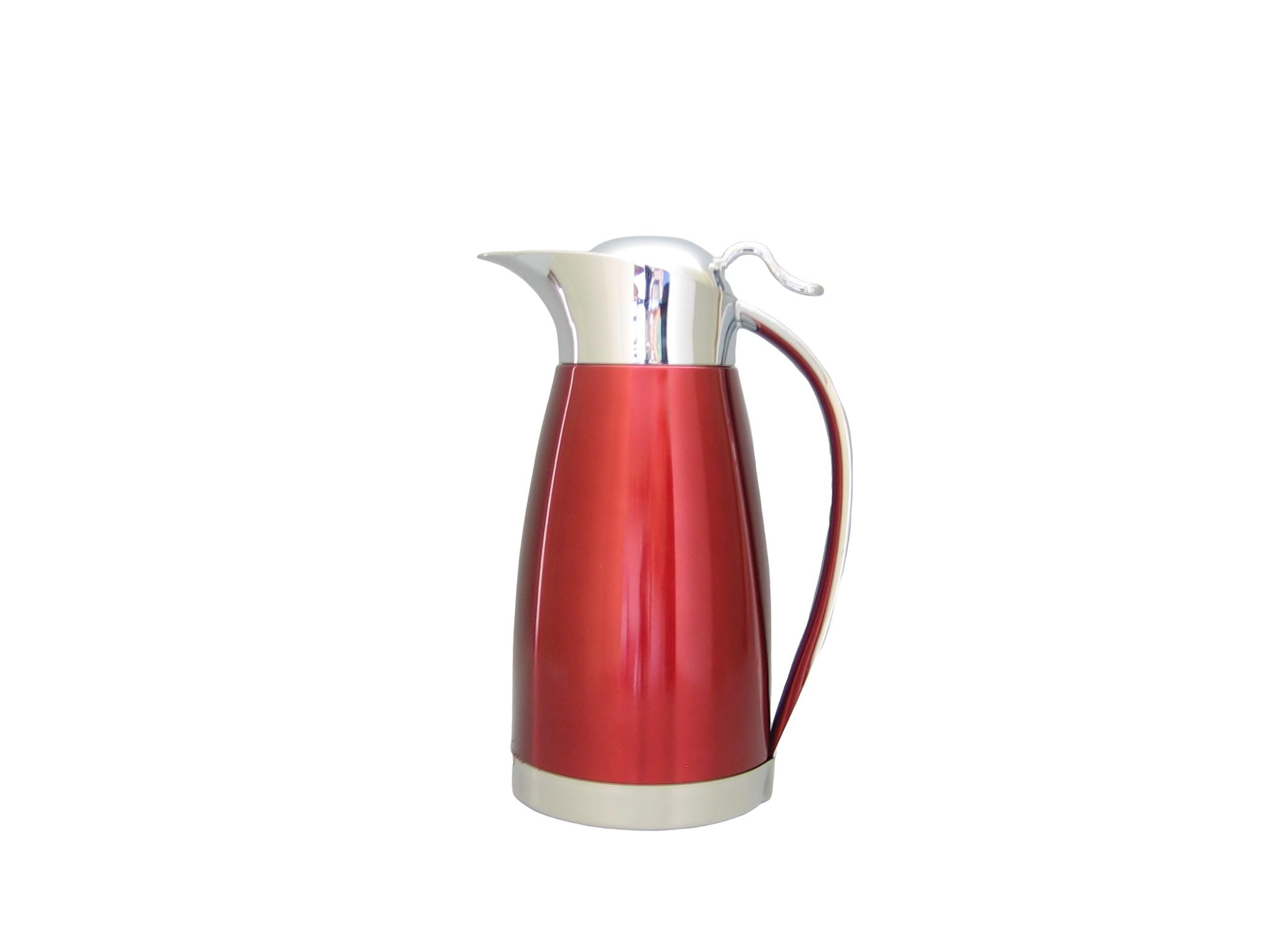 HK1200-072 - Pichet inox incassable coating rouge 1.2 L - Isobel