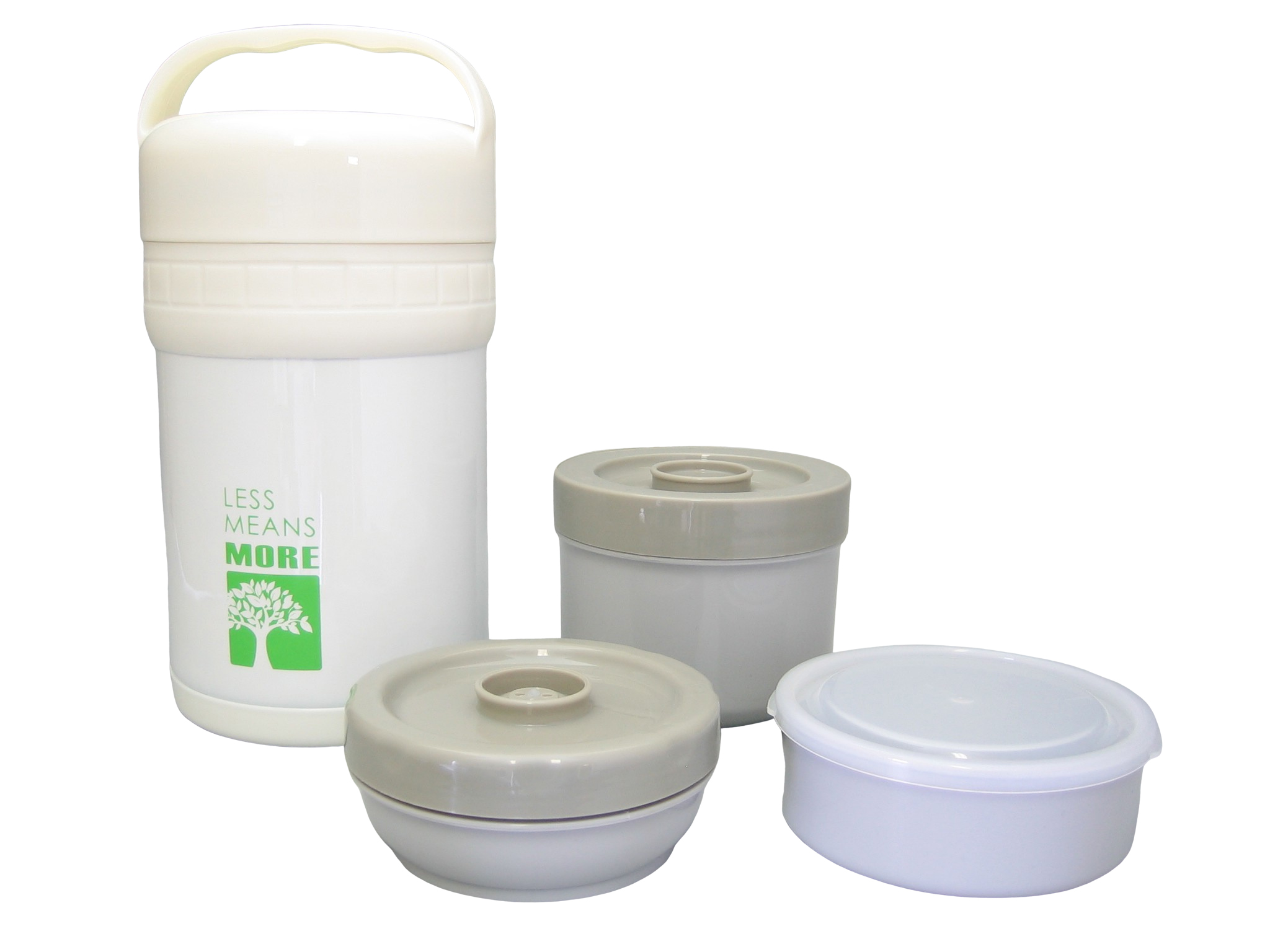 LUNCH15-001 - Food container SS unbreakable white 1.5 L - Isobel