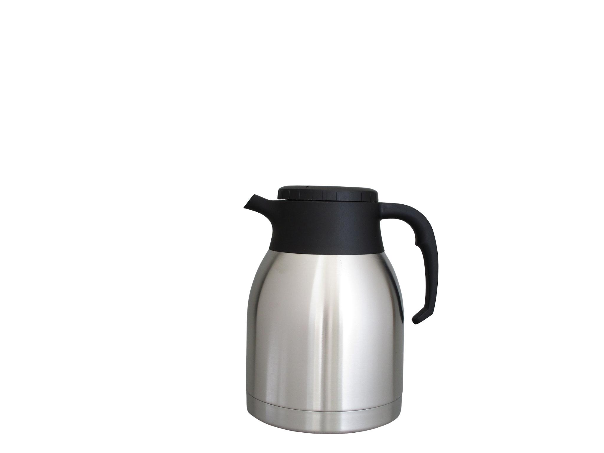 V1599-S08 - Isoleerkan onbreekbaar inox 1.5 L (filterdop) - Isobel Silver Line